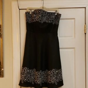 Ann Taylor LOFT MIDI Black Dress Size10P
